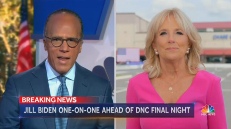NBC to Jill Biden: Does Joe Opening His Mouth Cause You 'Anxiety?'