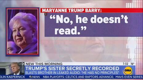 Networks LEAP on Secret Tapes of Trump Sister Trashing the President at Convention's Start