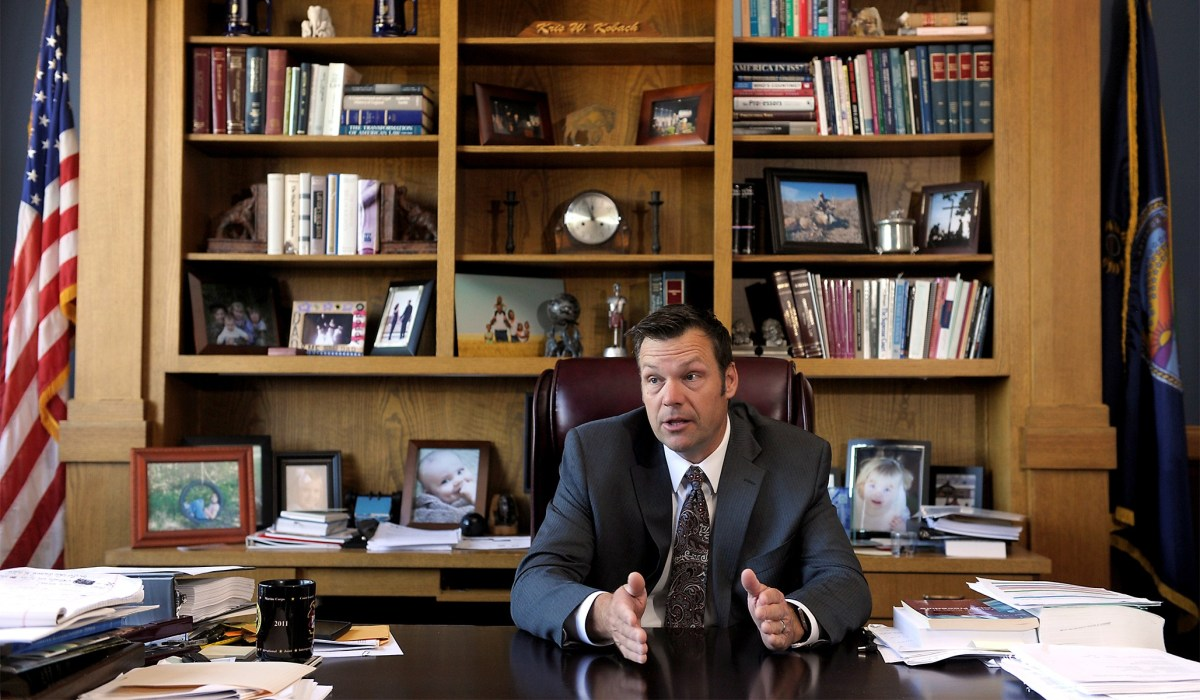 Pro-Abortion Group EMILY's List Helped Fund Attack Ads to Boost Kris Kobach in Kansas GOP Senate Primary