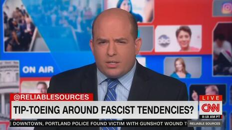 Stelter's Reliable Head Wound: Uncorking a Seven-Minute Smear Segment on Fascist Trump