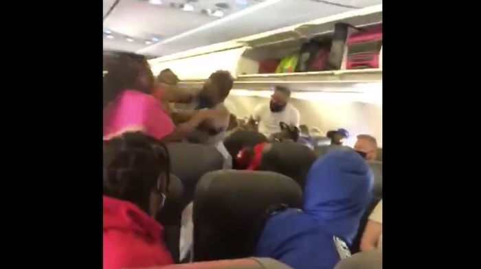 "[VIDEO] American Airlines Flight From Vegas to Charlotte Turns Into ""Fight Club"" When Massive Brawl Breaks Out"