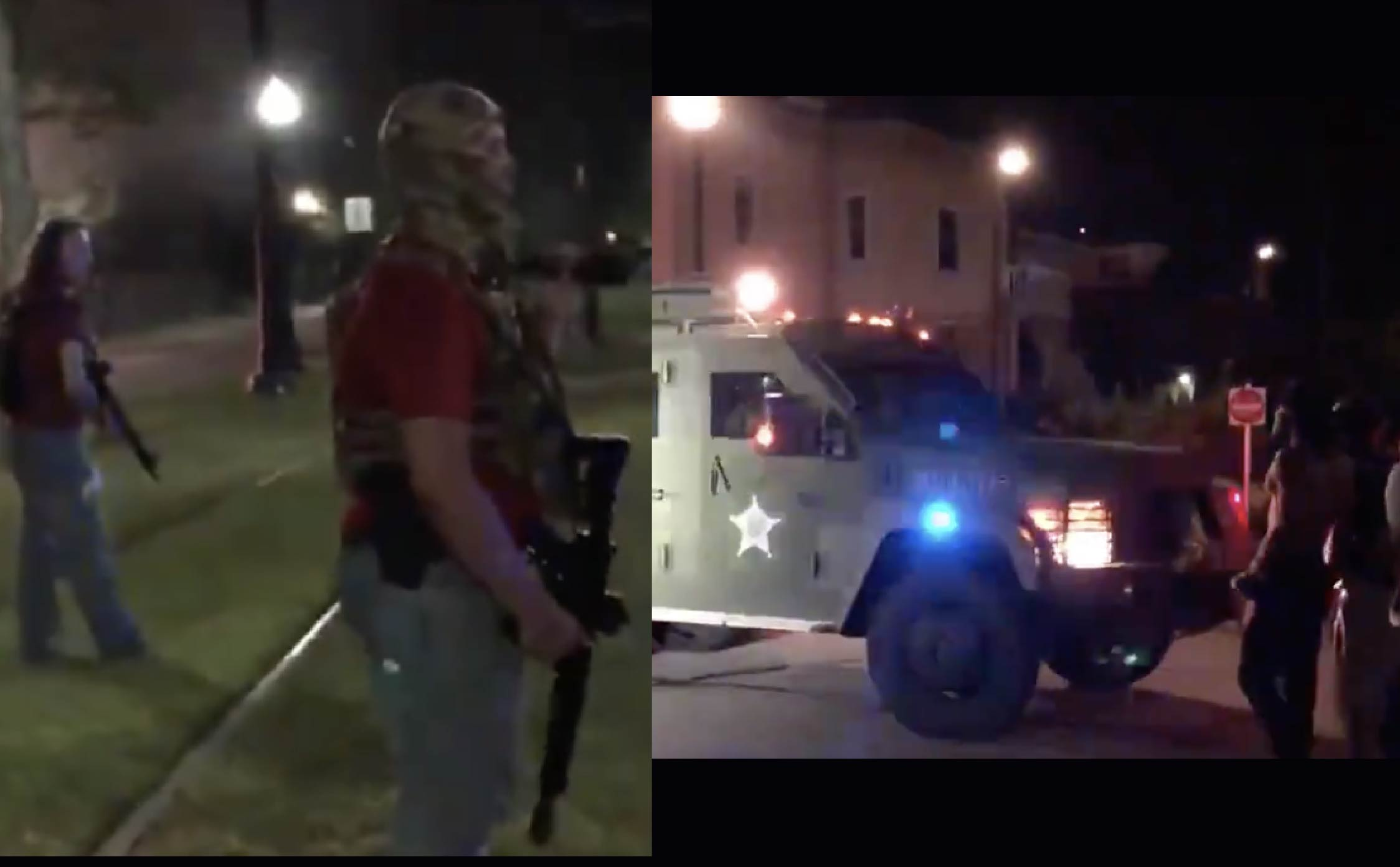 [VIDEO] BLM Mob Armed With Semi-Automatic Rifles Order Sheriff's Vehicle to Stop in Kenosha, WI