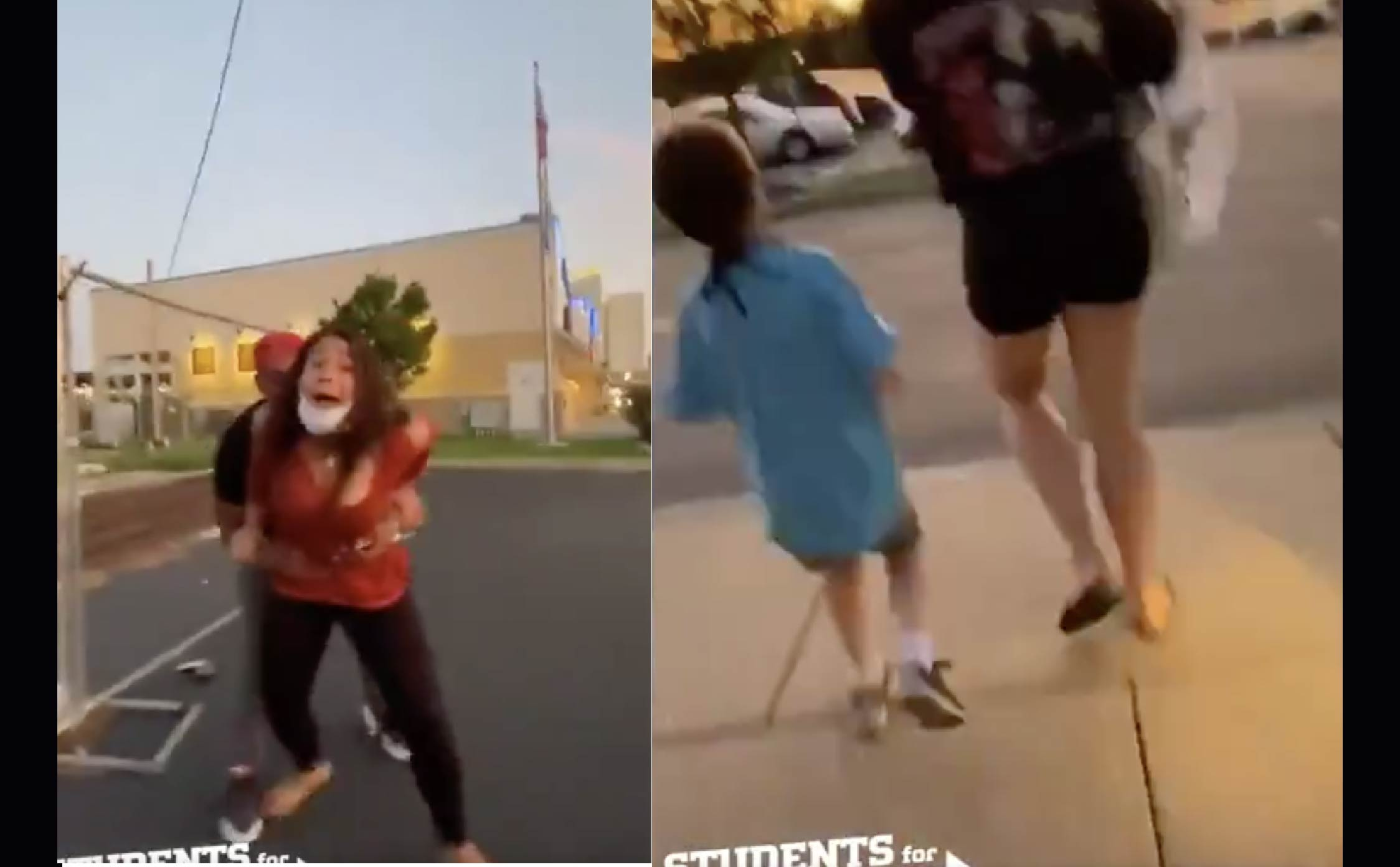 [VIDEO] Crazed Biden Supporters Terrorize 7-Year-Old Child, Steal His MAGA Hat, Tear Up Pro-Trump Signs