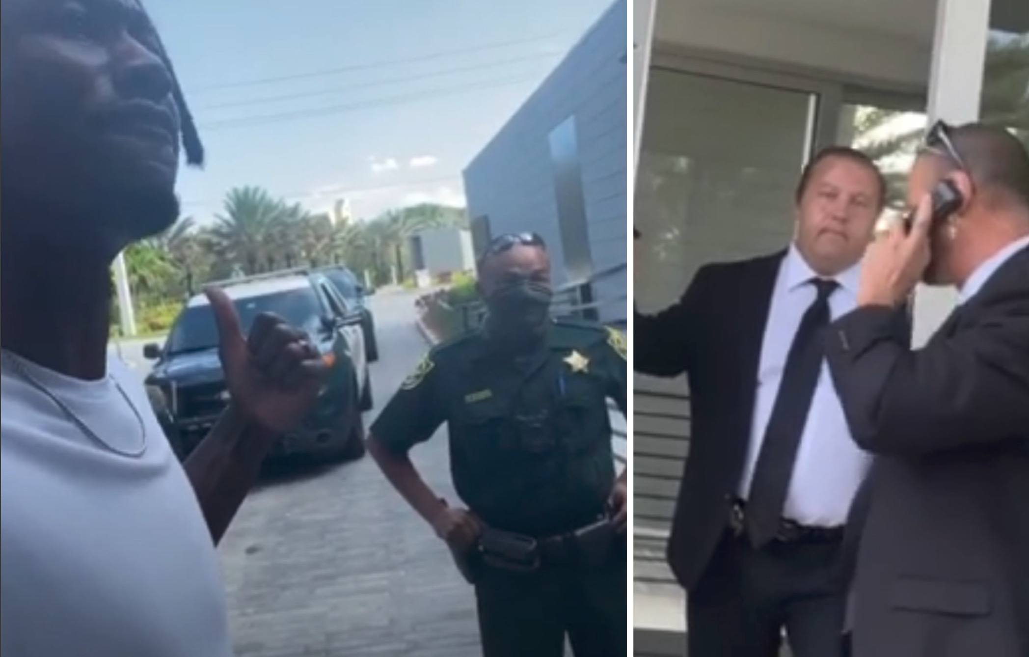 [VIDEO] Former NFL Player Claims Racism As Security Calls Police During Community Move-In