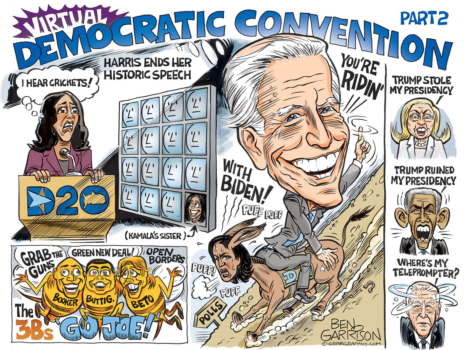 Virtual Democratic Convention 2020 Part 2 - Ben Garrison Cartoon