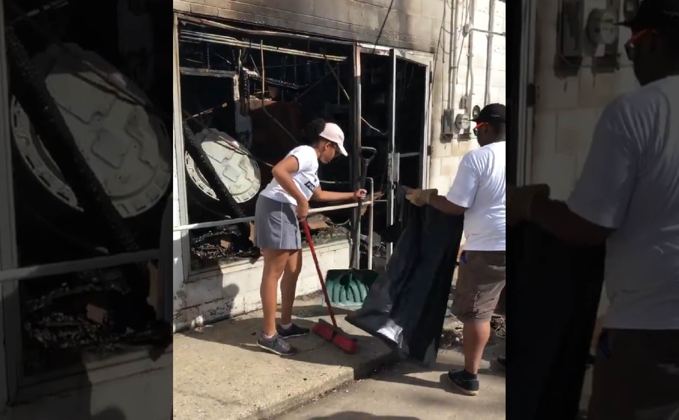 'Black Voices for Trump' Cleans Up the Mess and Destruction Left by BLM Rioters in Kenosha, WI