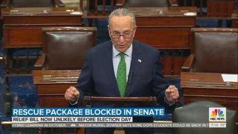 DNC TV: Networks Blame 'Both Sides' for Defeat of COVID Relief Bill