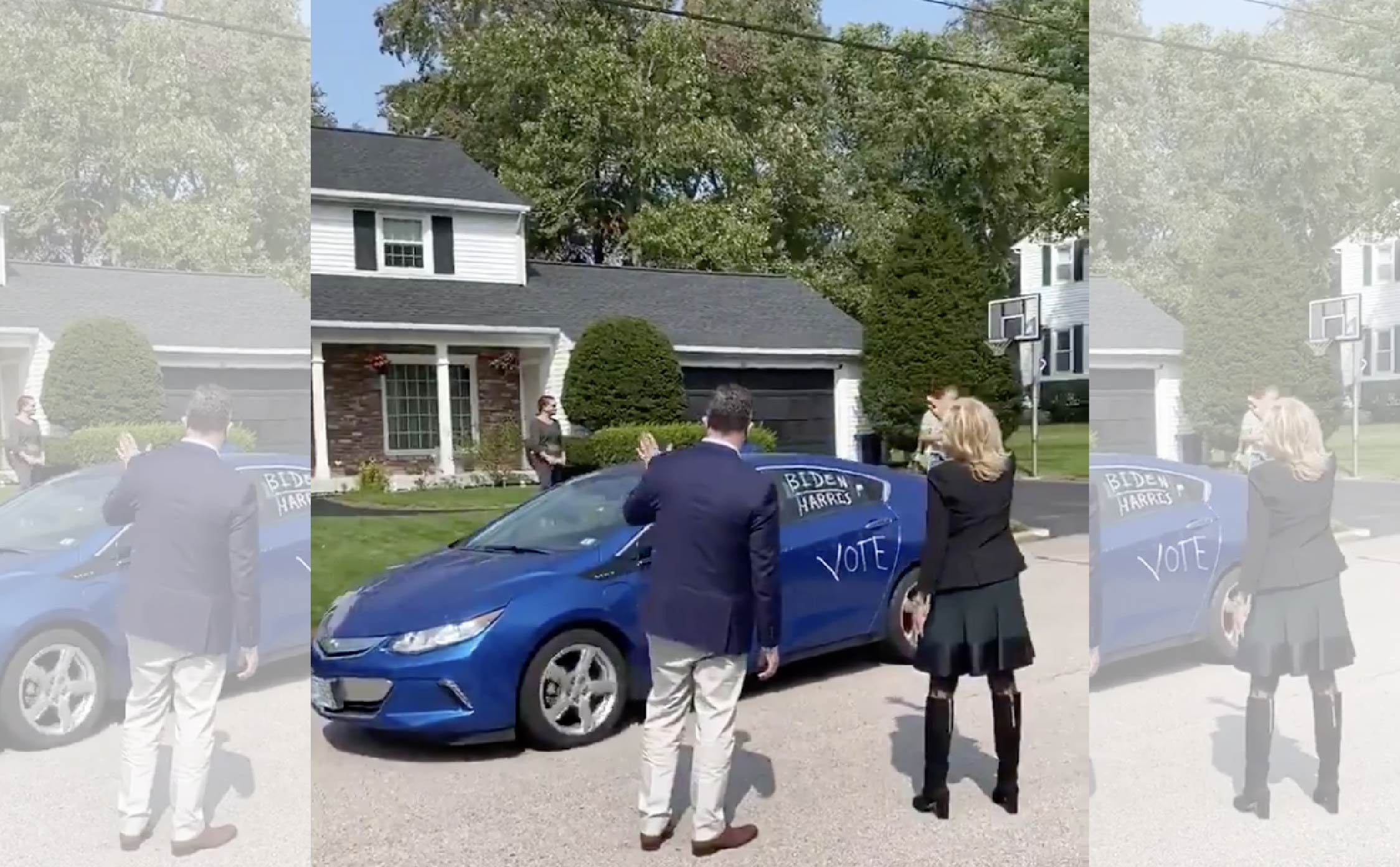 """Jill Hosts Biden """"Car Parade"""" and Only 3 Cars Show Up on Official Video Released By Her Press Secretary"""