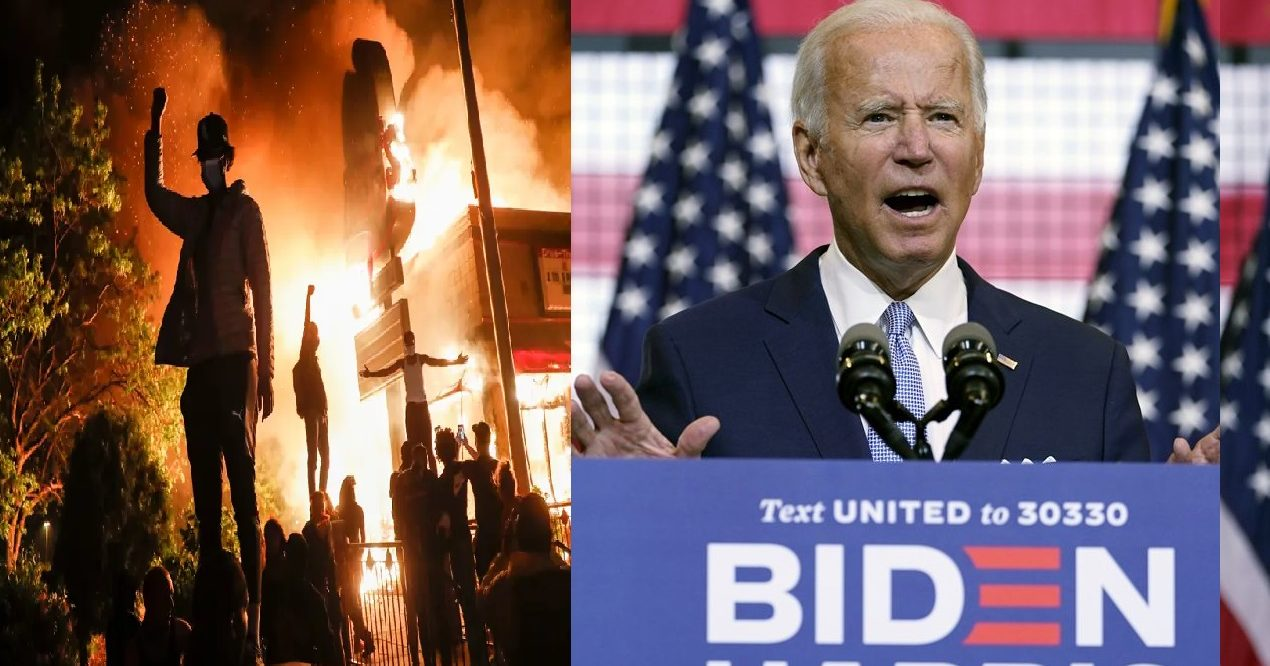 Joe Biden in Denial, Fanning the Flames and Refuses to Disavow Left-Wing Violence