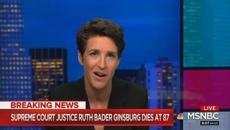 Maddow to Hillary: Your Loss and Ginsburg Death Equal 'Feminist Catastrophe'
