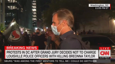 Marching With Antifa, CNN Claims Not 'Peaceful' But Not 'Violent'