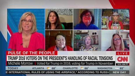 On Voter Panel, CNN's Camerota ONLY Fact-Checks Trump Voter, Lets Biden Supporter Lie