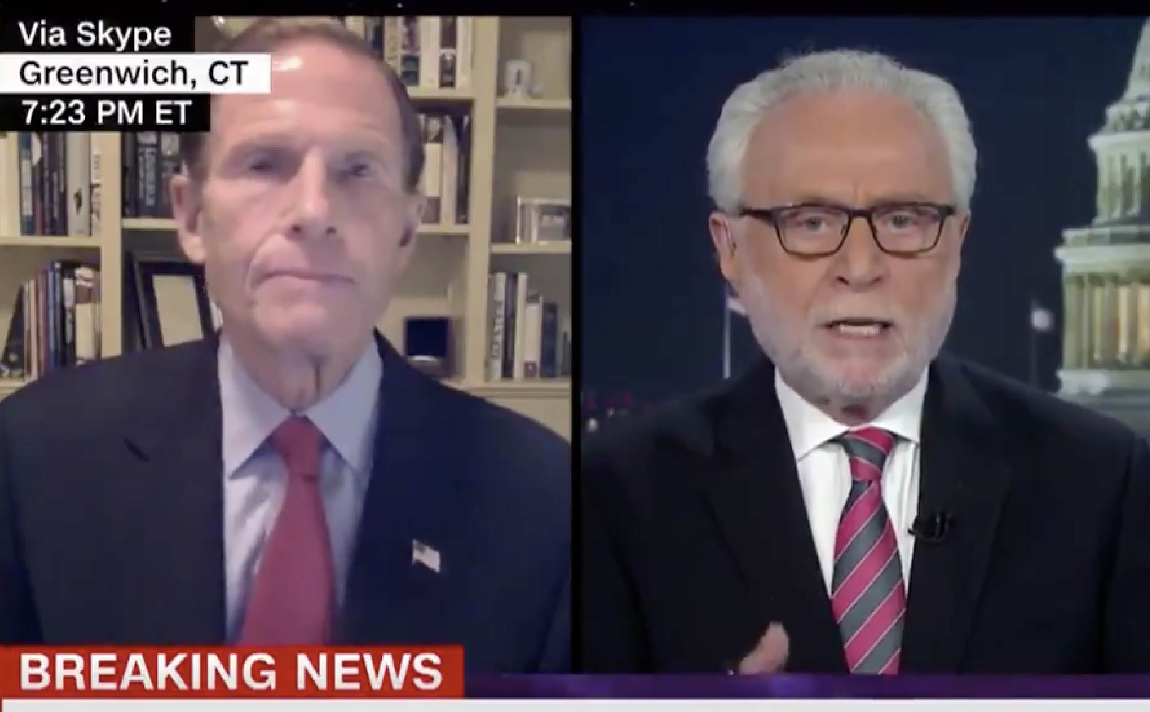"""[VIDEO] Are You Sitting Down? Wolf Blitzer Just Raked Blumenthal Over the Coals For Spreading """"Fake News"""""""