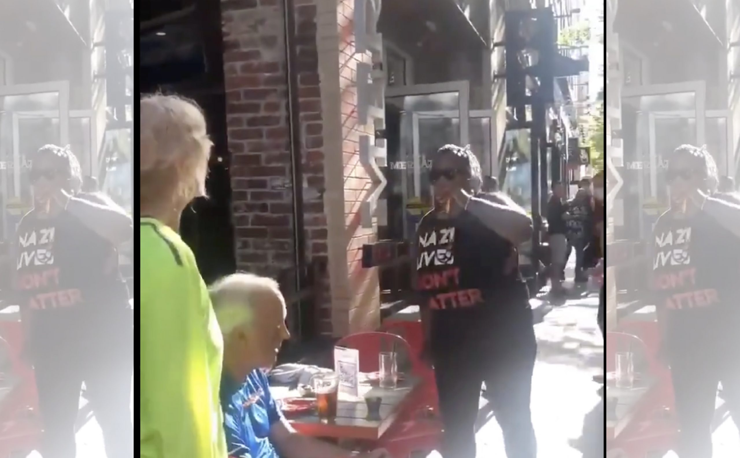 """[VIDEO] BLM Harasses Elderly Diners in Pittsburgh, Gulp Down their Drinks and Say """"F**ck White People"""""""