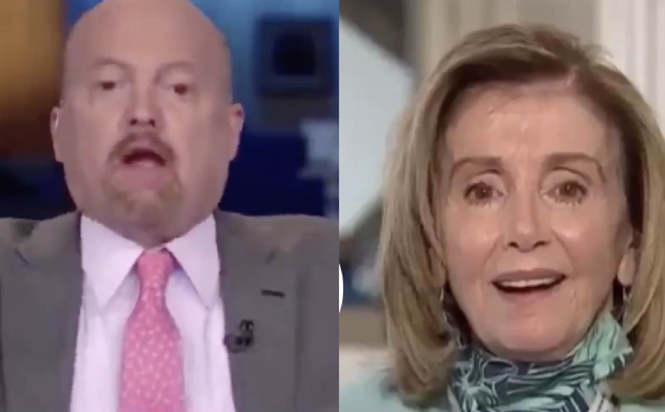 """[VIDEO] Check Out The Look on Pelosi's Face When Jim Cramer Calls Her """"Crazy Nancy"""""""