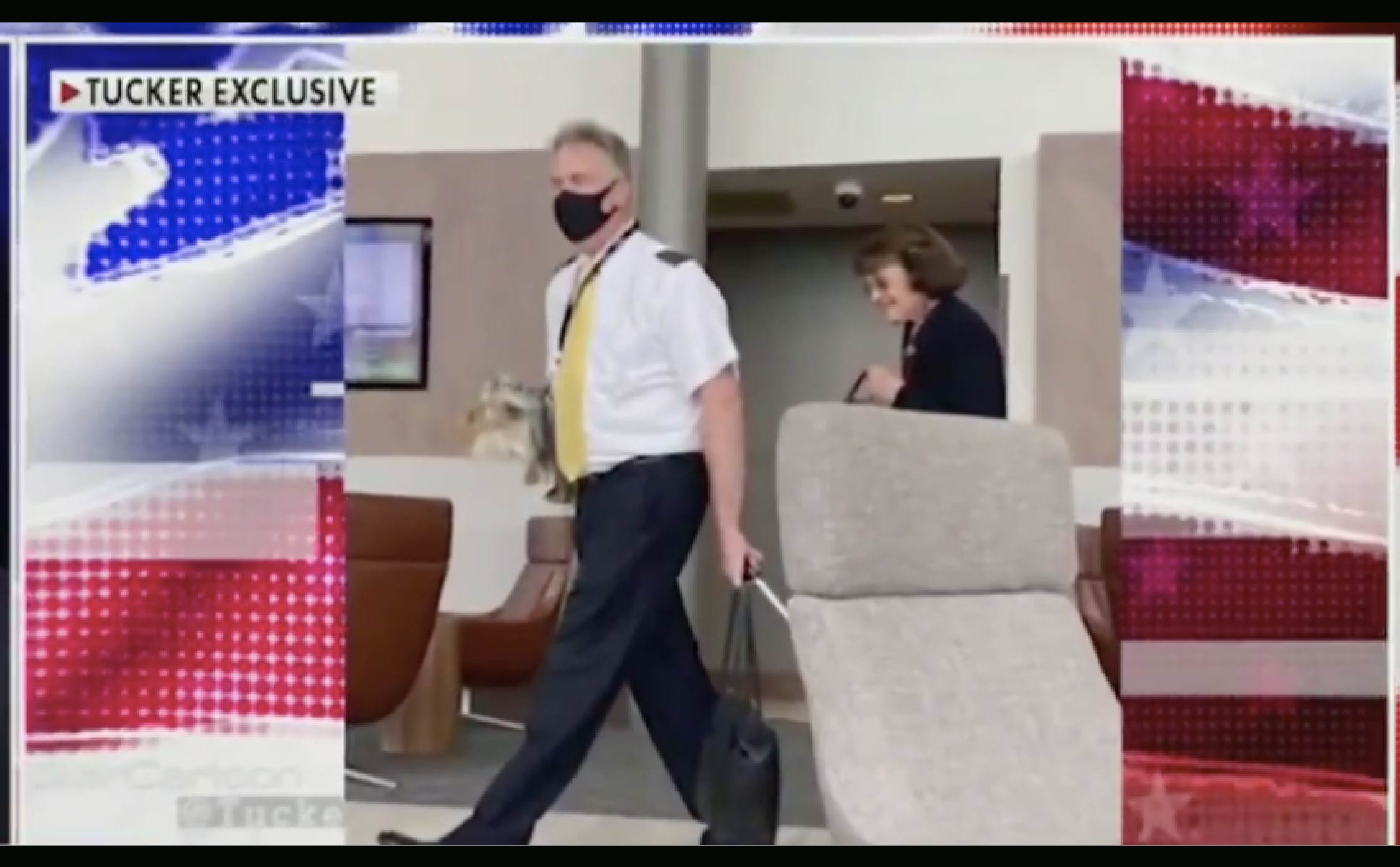 """[VIDEO] Dianne Feinstein Who Called for """"Nationwide Mask Mandate"""" Busted at 2 Different Airports Not Wearing a Mask"""