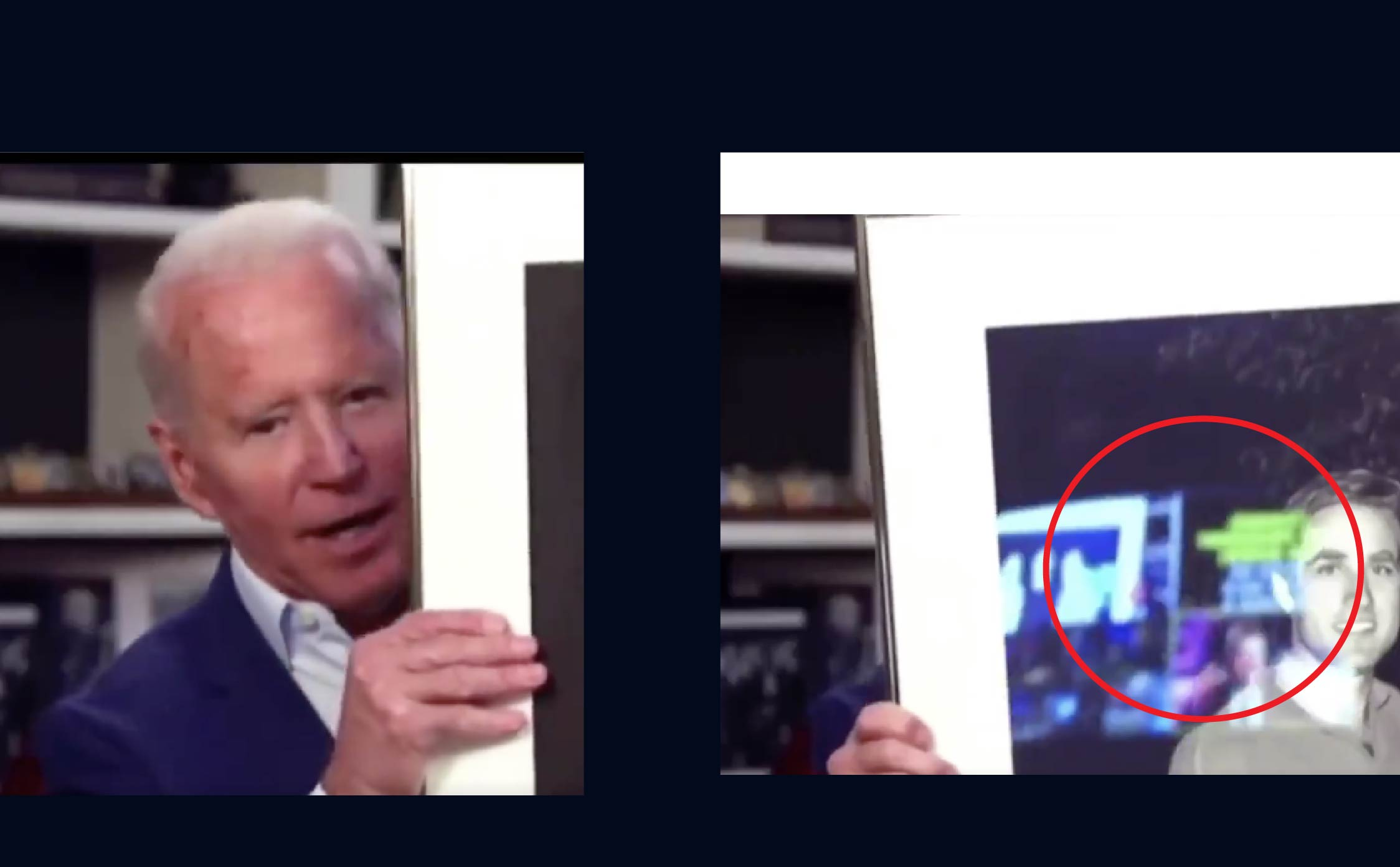 [VIDEO] Did Biden Just Accidentally Reveal His Teleprompter in the Reflection of a Framed Photo He Held Up?