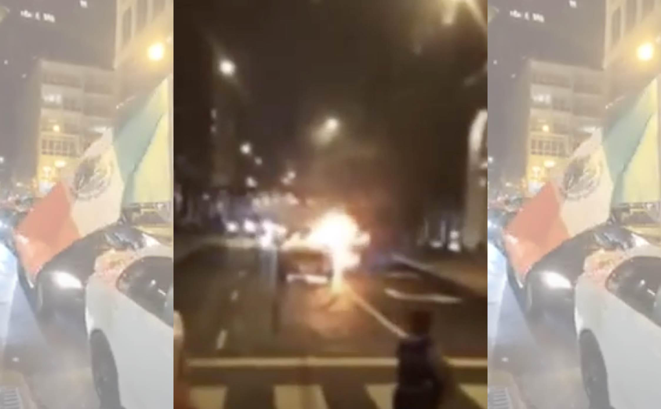 "[VIDEO] Whoops! Car Catches on Fire in the Middle of Chicago's ""Mexican Independence Day"" Parade"