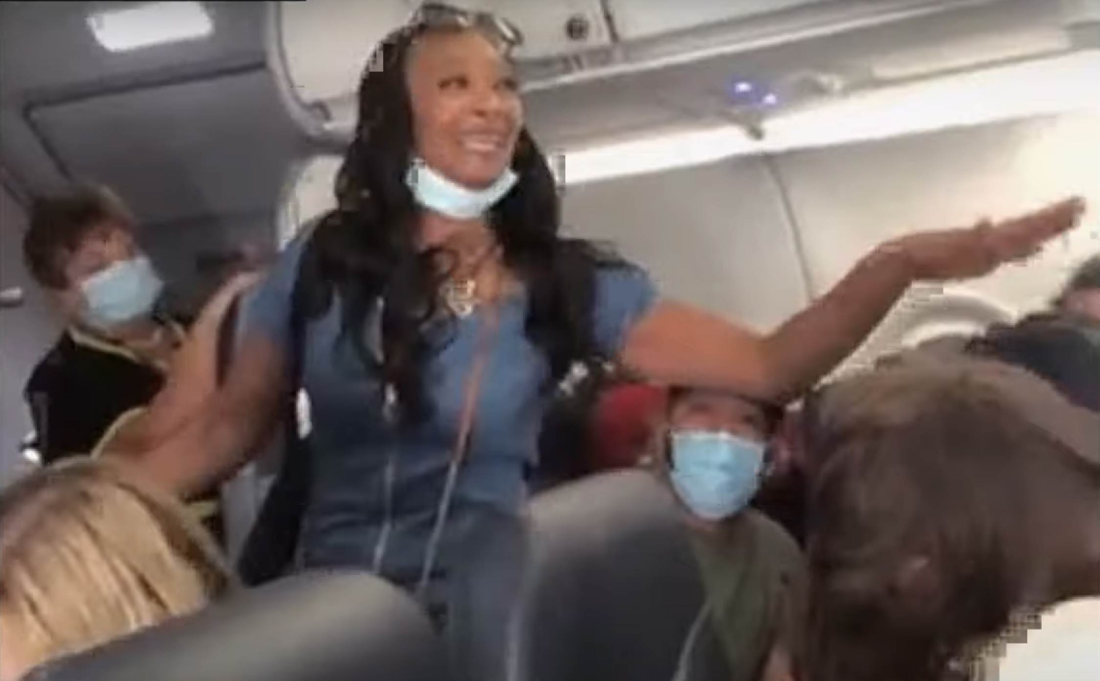 """[WATCH] Self-Proclaimed """"Queen"""" is Arrested on Plane After Going Off on a Crazed Racist, COVID Tirade"""