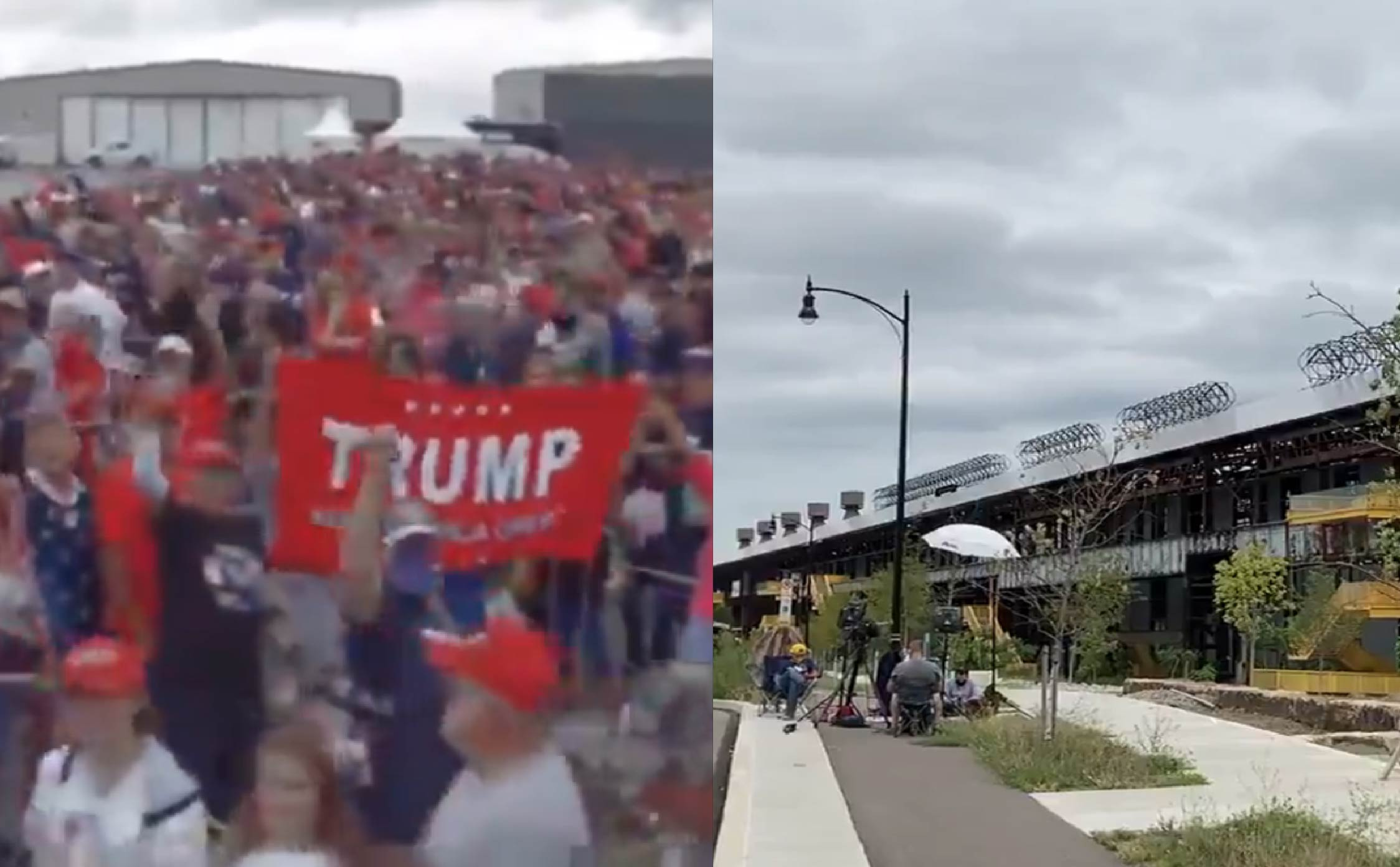 [WATCH] These Videos Show the Shocking Differences Between Trump and Biden's Rallies One Hour Before Showtime
