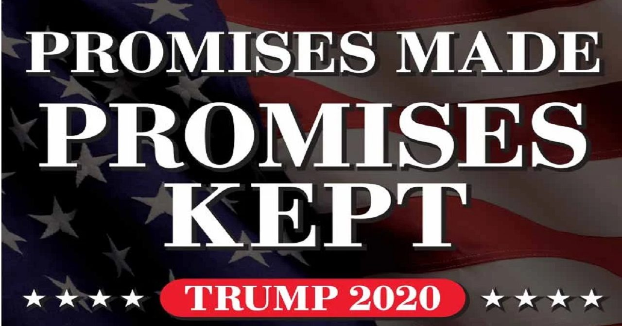Why I Will Vote Trump in 2020 - Promises Made Promises Kept