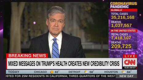 CNN's Get-Well Card: 'Deeply Dishonest' Trump Has Left 'Wreckage' in 'His Wake'