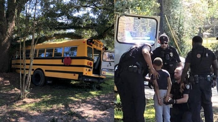 [VIDEO] Crazed 11-Year-Old Boy Steals School Bus, Leads Cops on High-Speed Chase