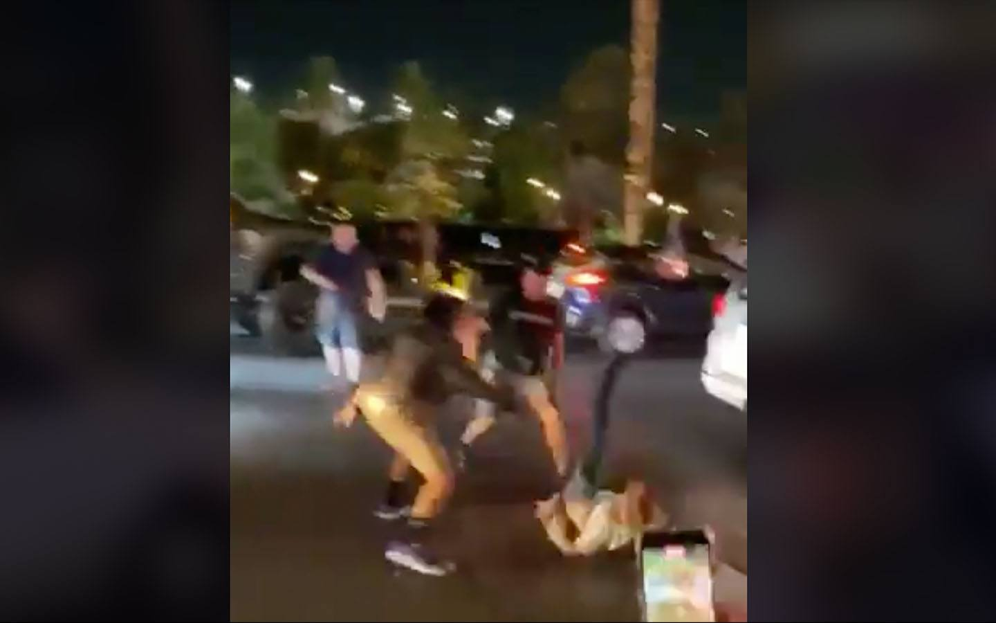 [WATCH] Liberal Protester Promptly Gets Knocked to the Pavement After Vandalizing Cars During a Trump Parade in Vegas