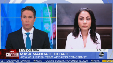 ABC Asks Dem COVID Advisor for Mask Mandate 'Before Biden Takes Office'