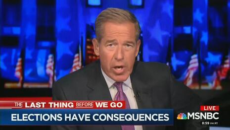 PANIC! Brian Williams Frets Over 'Consequences' of Young Conservative Judges