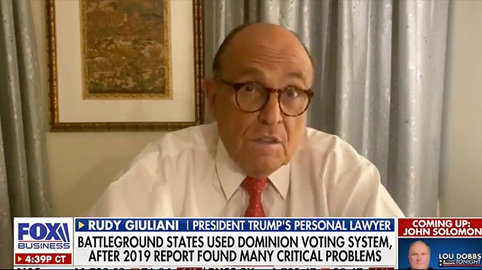 [VIDEO] Rudy Leaves Lou Dobbs Stunned Over New Update on Election Case
