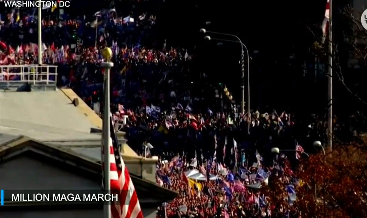 Watch: Live Streams from Million MAGA March in D.C. - 11/14/20