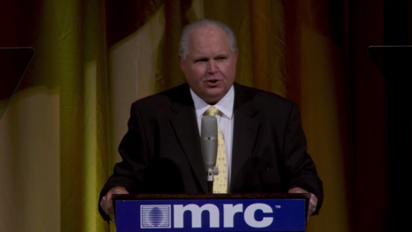 Radio Icon Rush Limbaugh Delighted MRC Galas: 'Stay on the Truth'