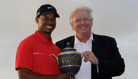 Trump Uses Surrogate to Tweet 'Get Well' Wishes to Tiger Woods After Golfer Injured in Car Crash