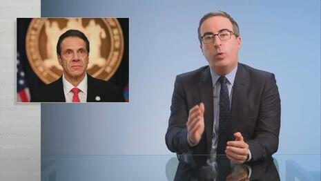 Late to the Party: Hack Host John Oliver FINALLY Unloads on 'A**hole' Andrew Cuomo