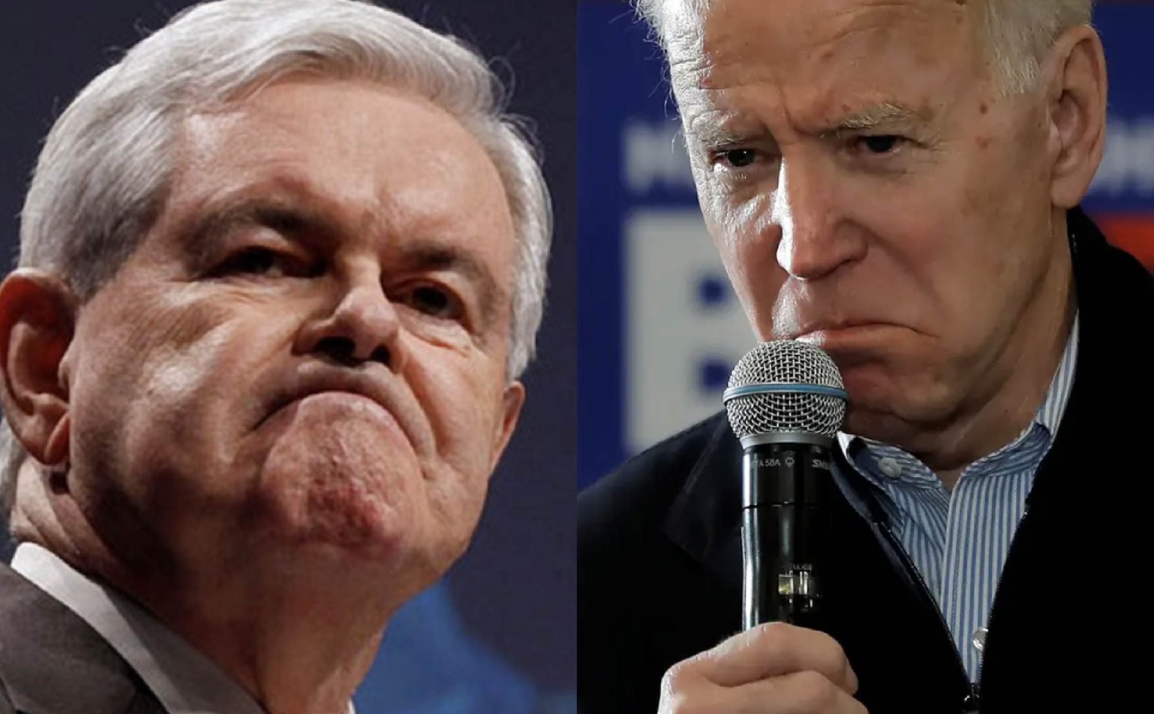Newt Gingrich At End of His Rope With Joe Biden, and He Lets it Rip