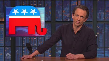 Propaganda: Slimy Seth Meyers Uses Comedy Show to Prop Up Dems' COVID Bill