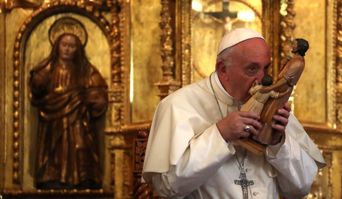 St. Joseph, Pope Francis & Fr. Peter John Cameron -- Take a Little Time with the Man of the Year