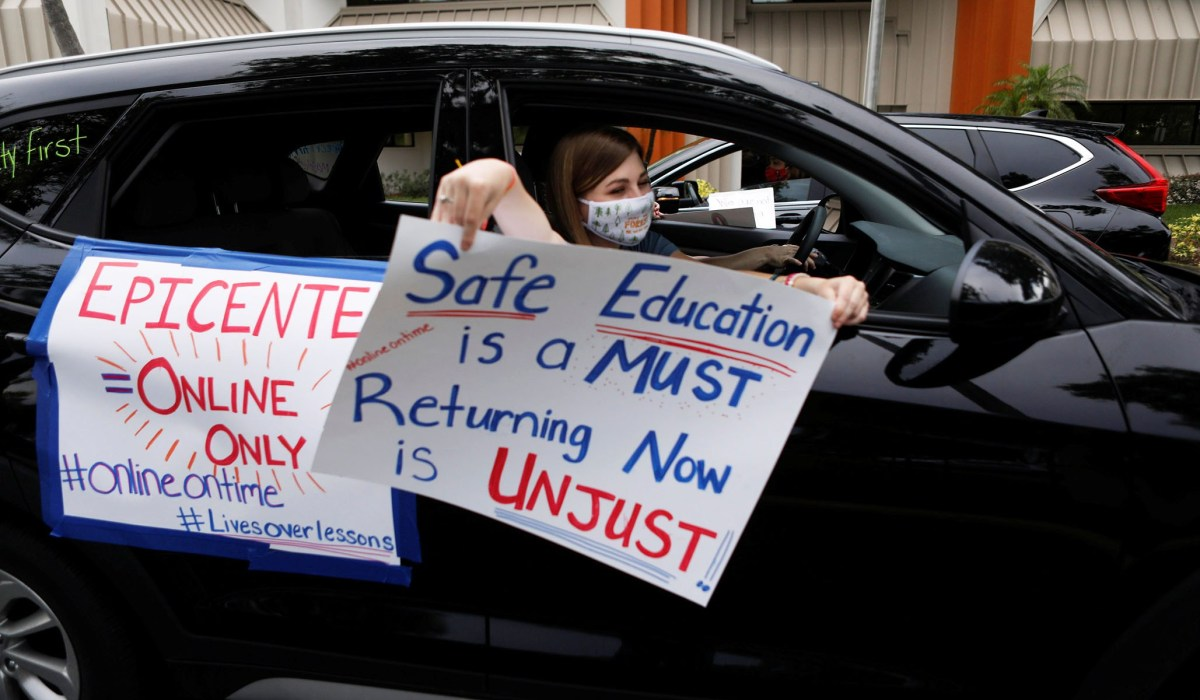 Teachers Union Head Fights to Keep Schools Closed While Sending Child to In-Person Pre-School