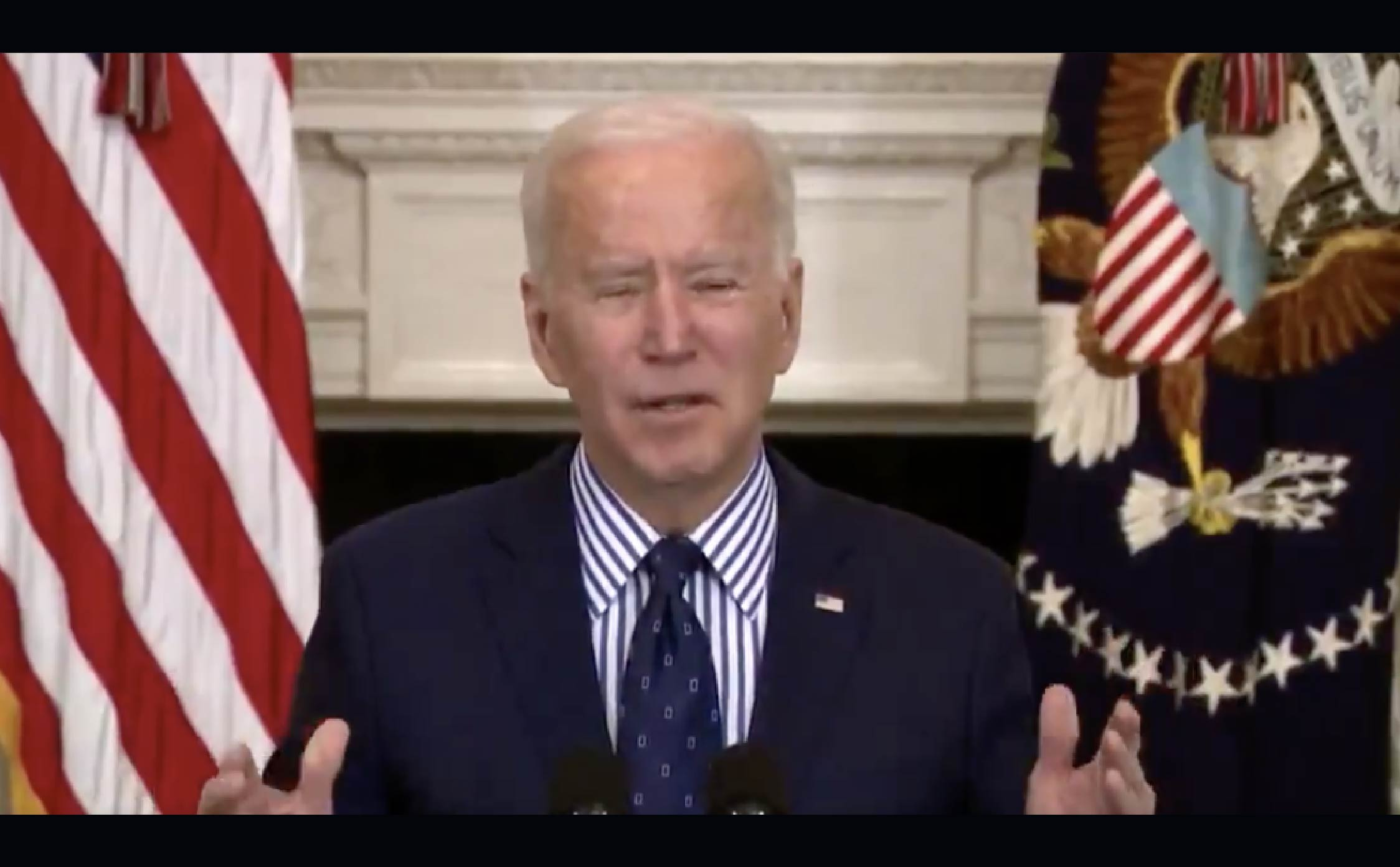 """[VIDEO] Biden Suffers His Most Catastrophic """"Brain Freeze"""" Yet While Explaining COVID Bill"""