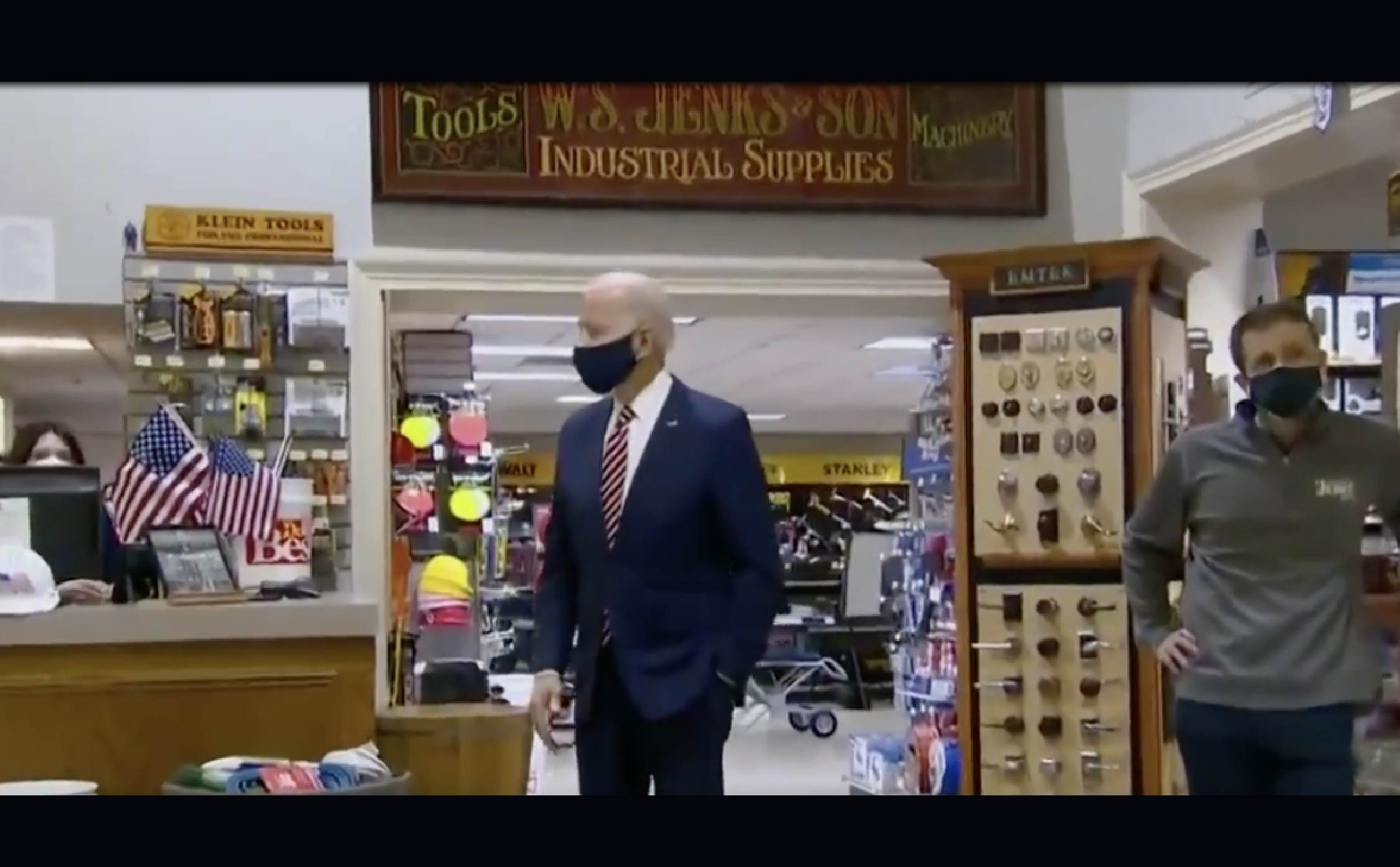 [VIDEO] Joe Looks Lost as Staffers Aggressively Take Over During Hardware Store Visit
