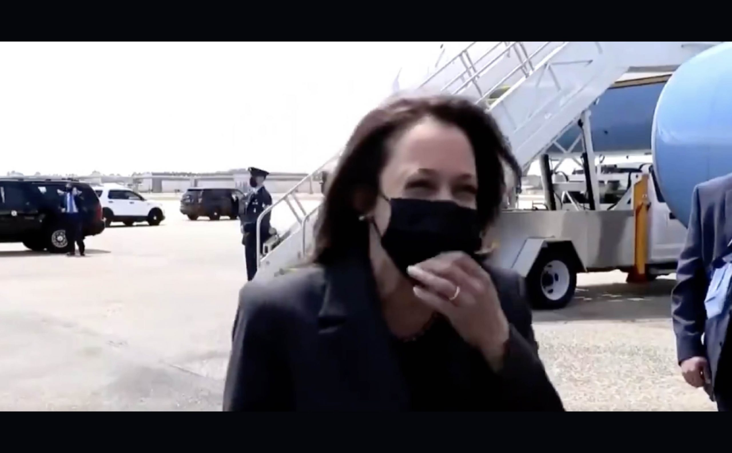 [VIDEO] Kamala Cackles Hysterically When Asked If She'll Visit The Border Crisis