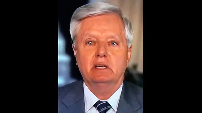 [VIDEO] Lindsey Graham So Fed Up With Biden's Border He Now Fully Swearing on Live TV