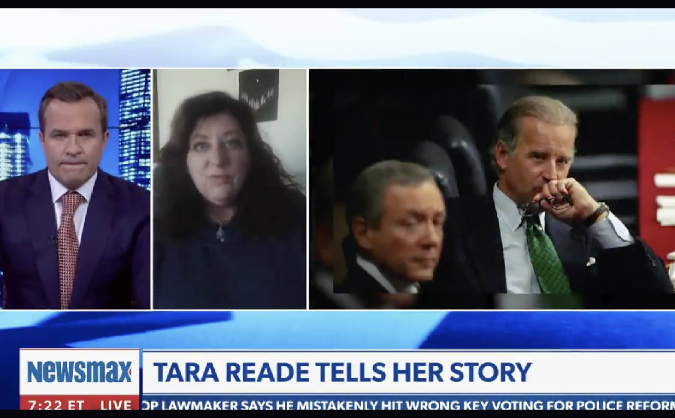 """[VIDEO] Tara Reade on Newsmax: Says She Knows Exactly Why Allegations Against Biden Won't """"Stick"""""""
