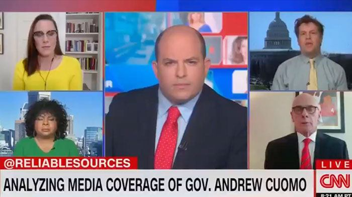 [VIDEO] Watch The Look on Brian Stelter's Face as His Guest Shreds CNN Like a Carrot