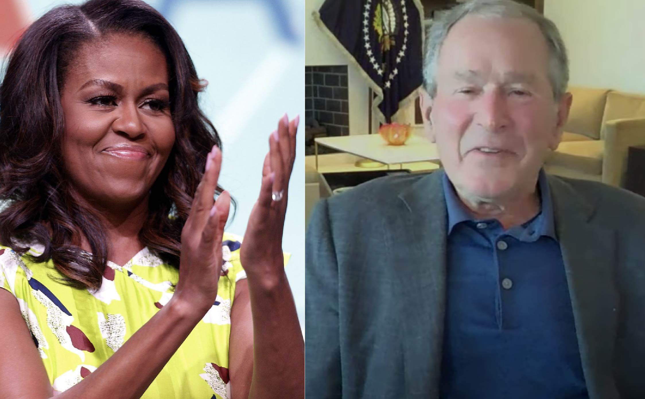 [VIDEO] George W. Bush Goes on Jimmy Kimmel to Brag About His Friendship With Michelle Obama