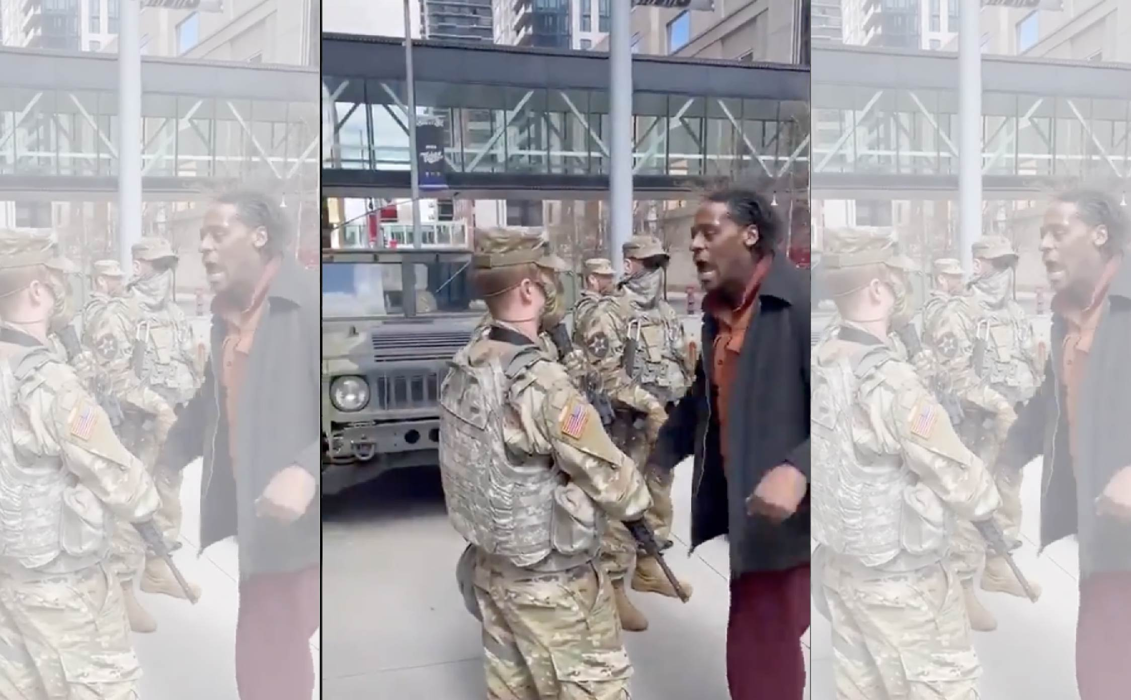 [VIDEO] Man Verbally Abuses MN National Guard and Gets a Big Surprise