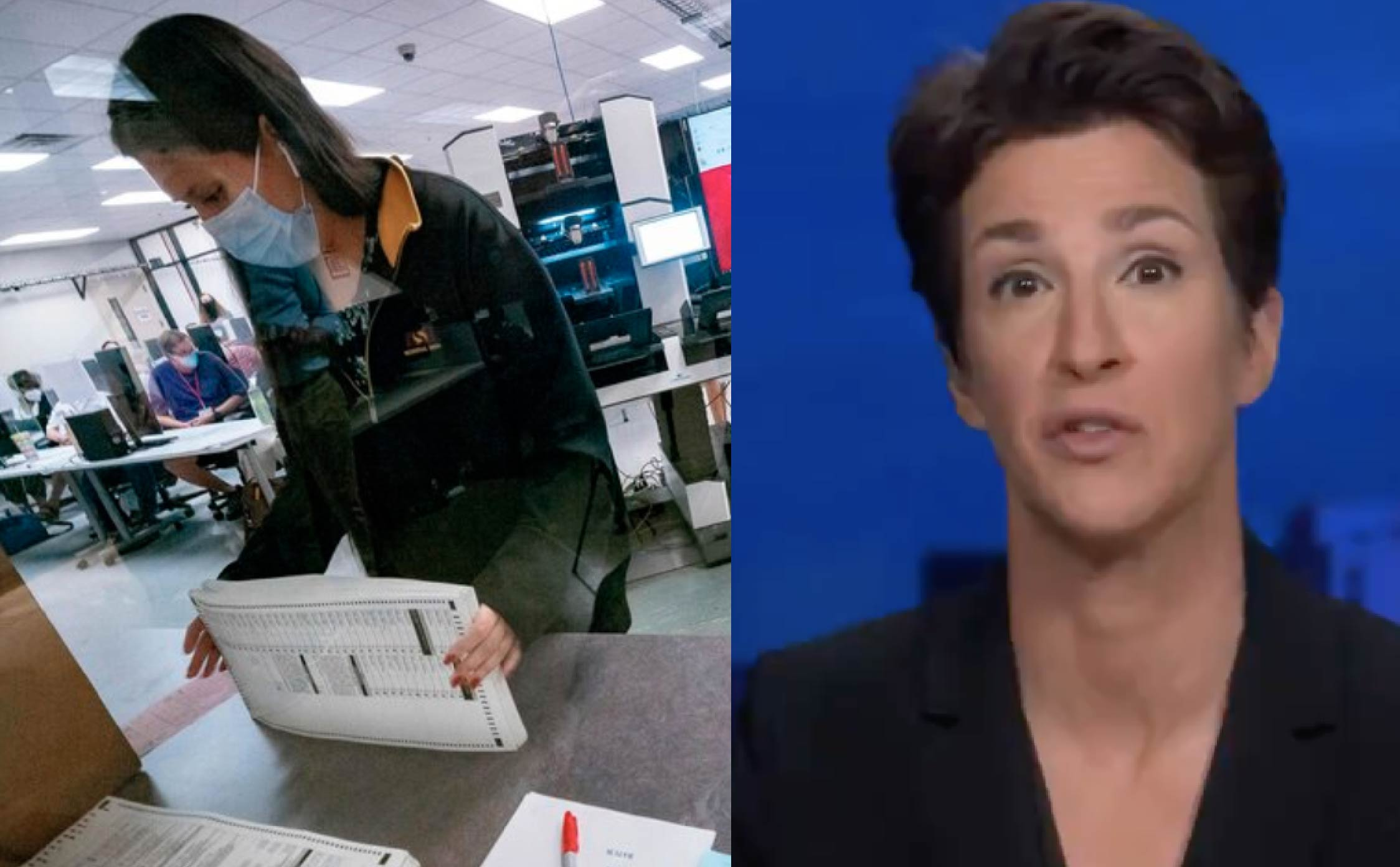 [VIDEO] Rachel Maddow Sounds Scared to Death Over Arizona Audit