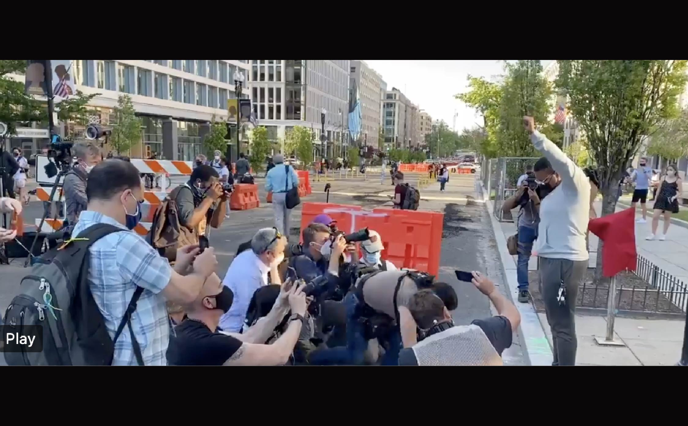 """[VIDEO] Watch Group of Journalists """"Create"""" a Peaceful Protest Scene in DC"""