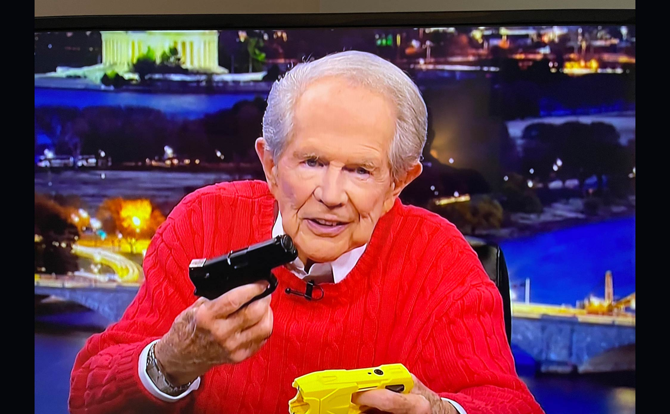 """Watch: After Calling 2020 Election Legitimate, """"Woke"""" Pat Robertson is Now Pushing BLM Messaging to Christians"""